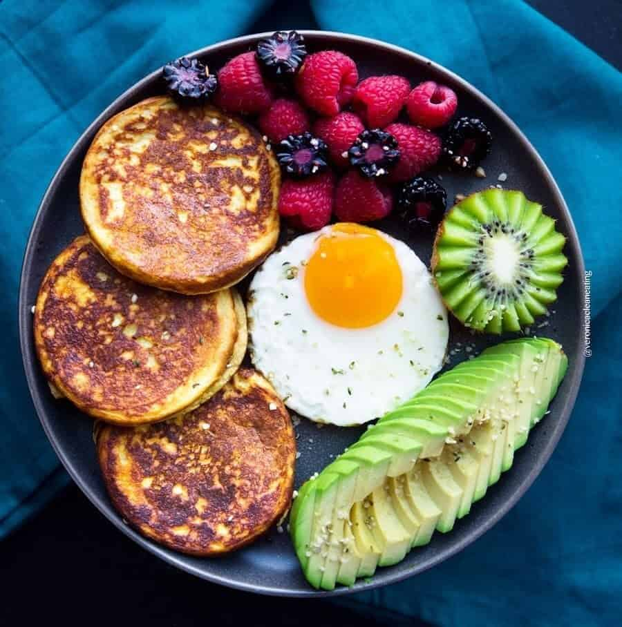 So delicious sweet potatoes pancakes with a mix of sweet and savory