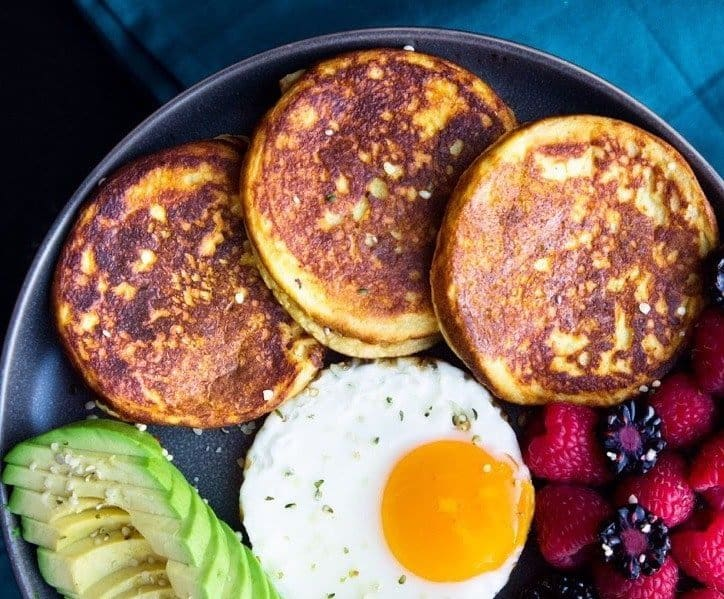 Beautiful golden brown sweet potatoes pancakes