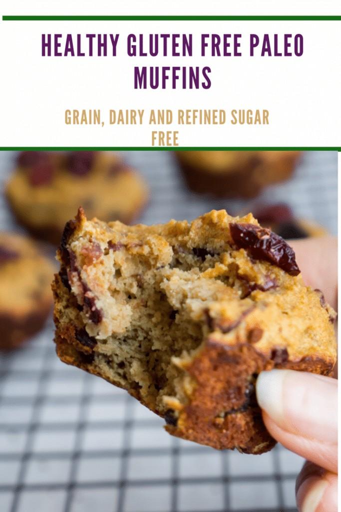 healthy gluten free paleo muffins, grain dairy and refined sugar free