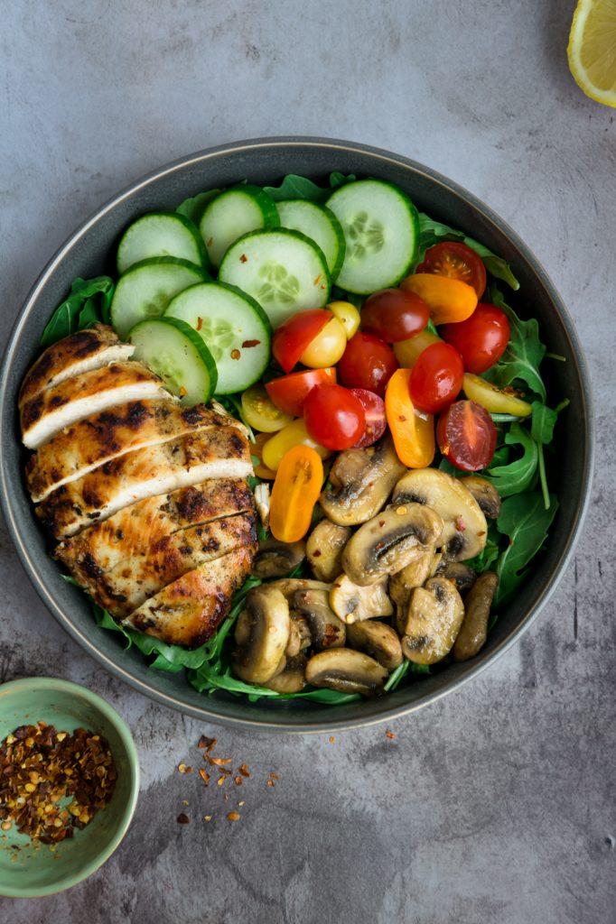 greek chicken breast and veggies