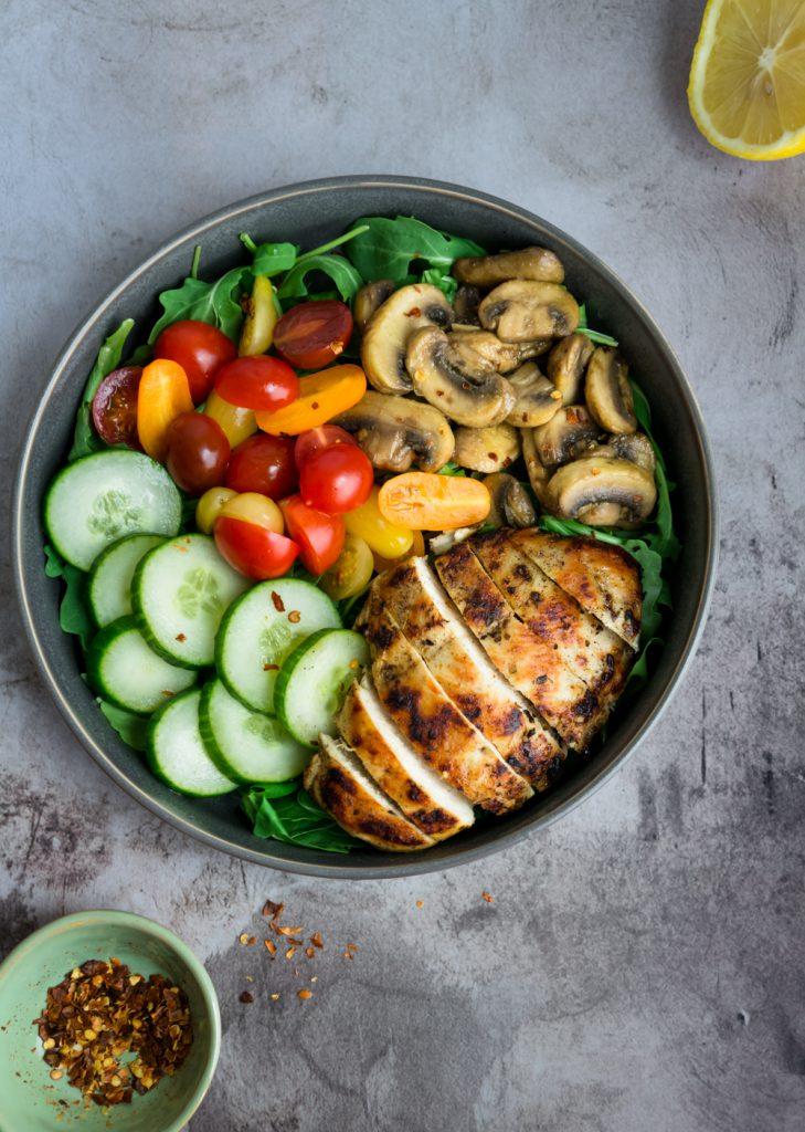 Greek chicken breast with veggies