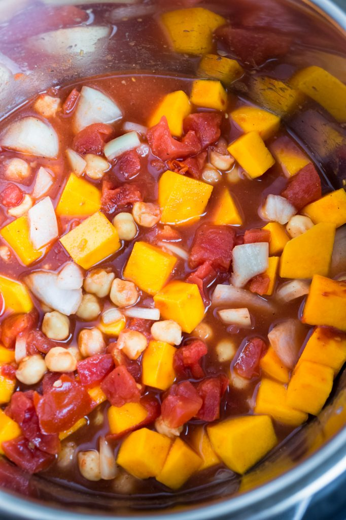 chickpea butternut squash diced tomatoes and spices