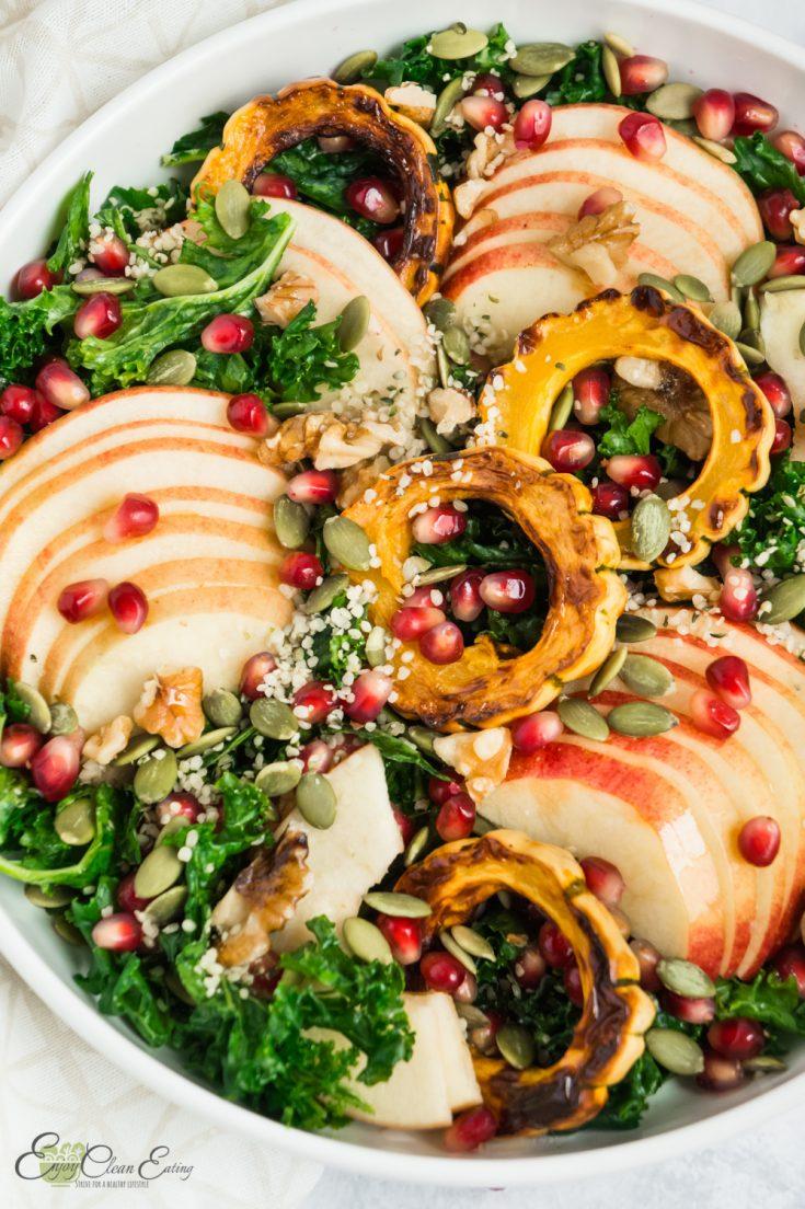 Healthy Massaged Kale and apple salad
