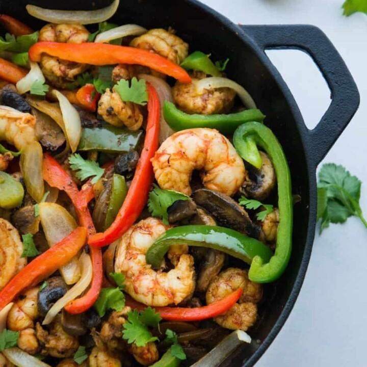 Easy low sodium shrimp fajitas recipe