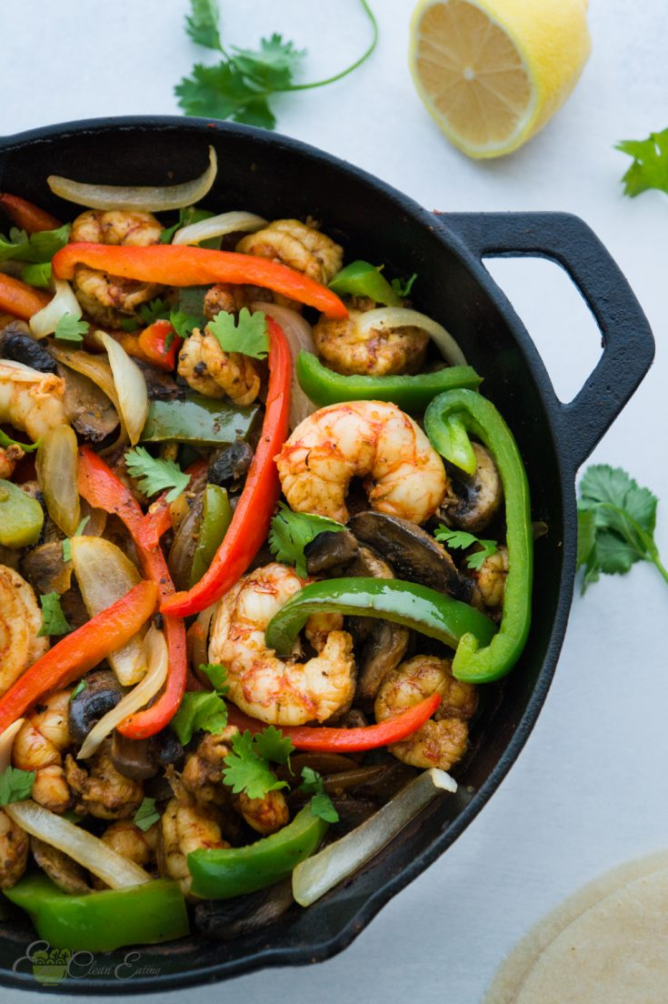 Easy low sodium shrimp fajitas recipe