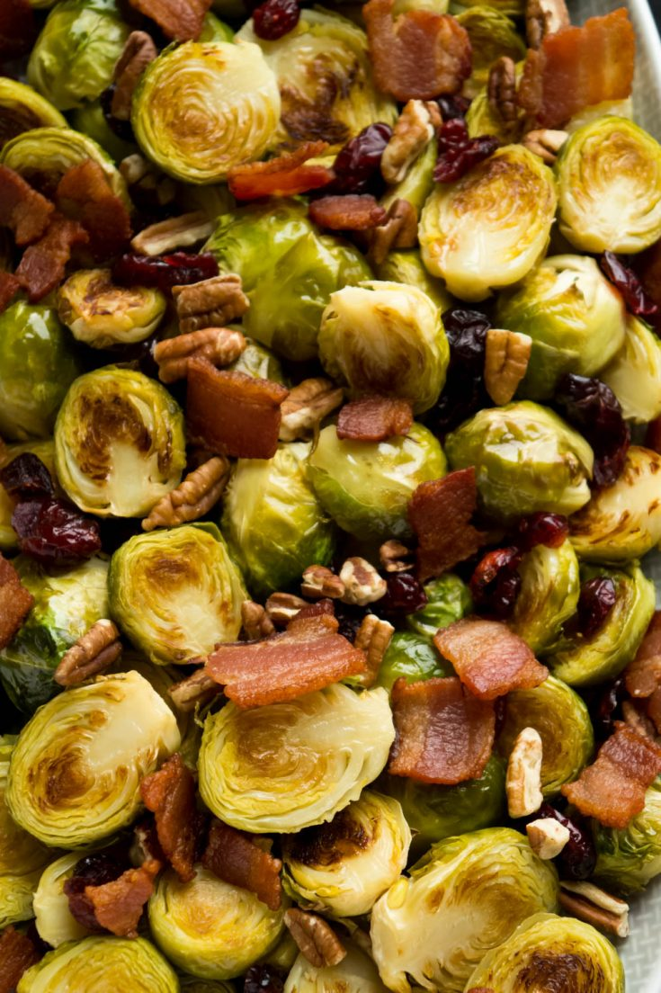 HEALTHY ROASTED BRUSSEL SPROUTS WITH BACON RECIPE