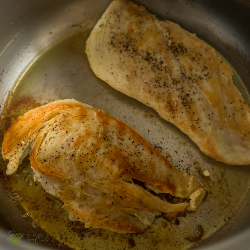 searing chicken breast