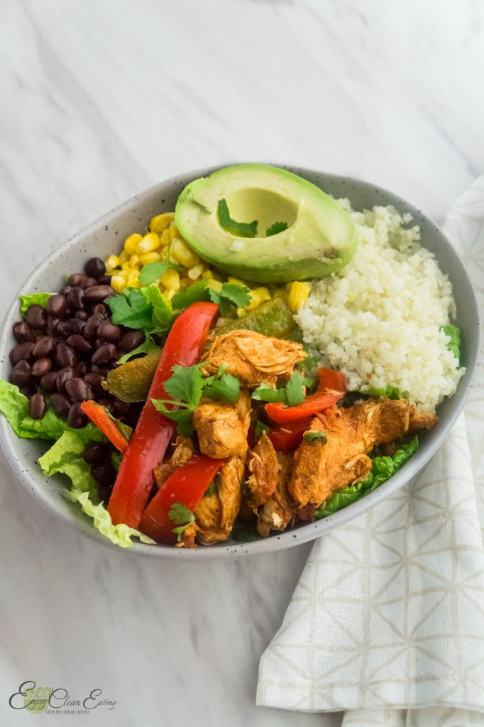 instant pot chicken fajitas bowl