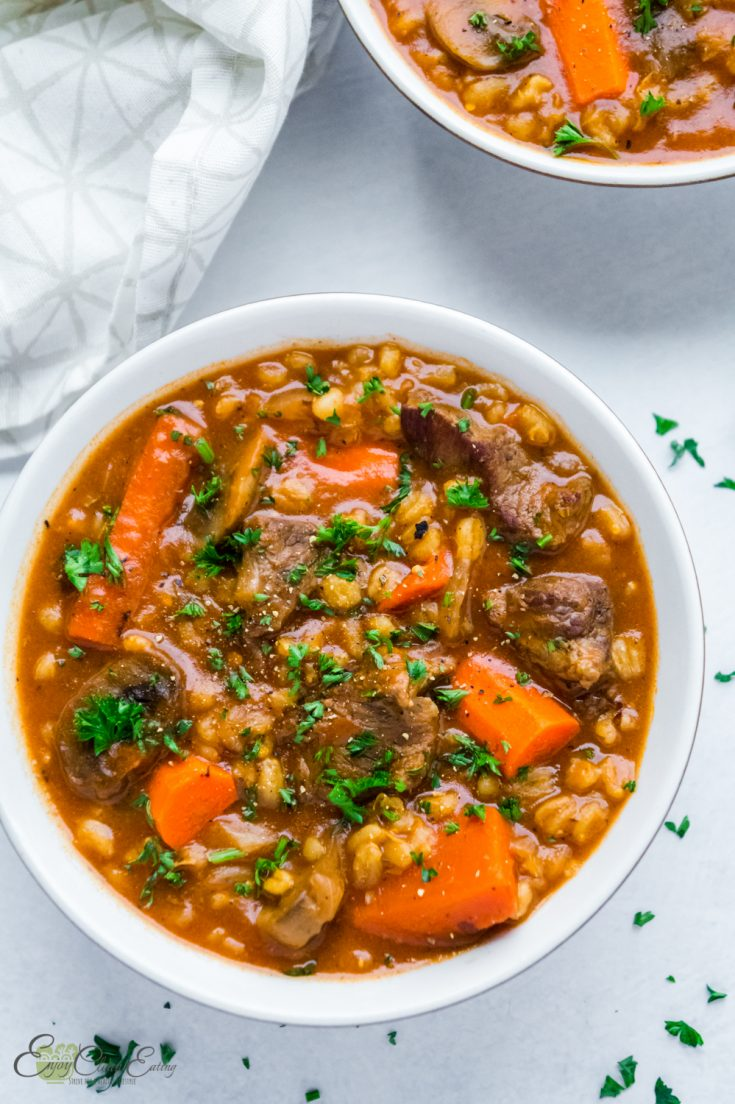 Hearty Beef Barely Stew Slow Cooker