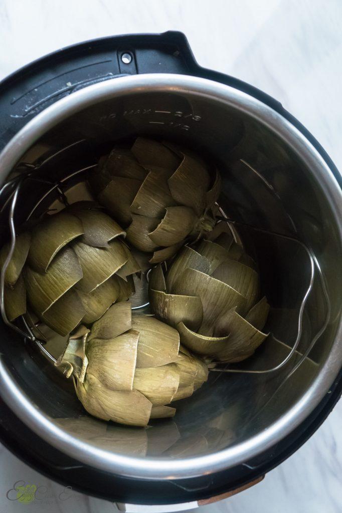 pressure cooked artichokes
