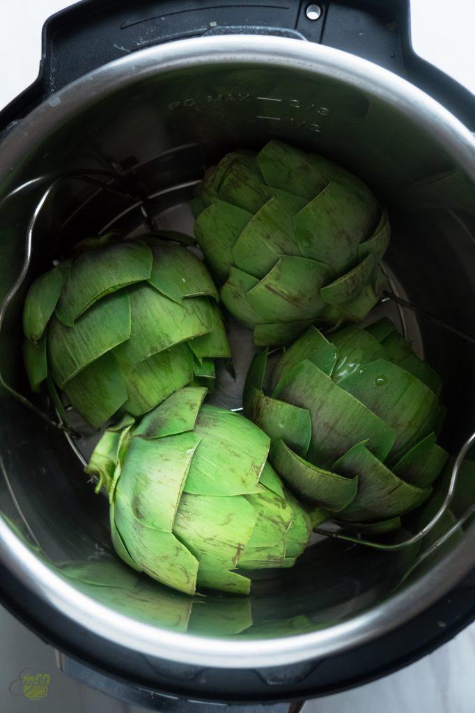 cut artichokes in the instant pot