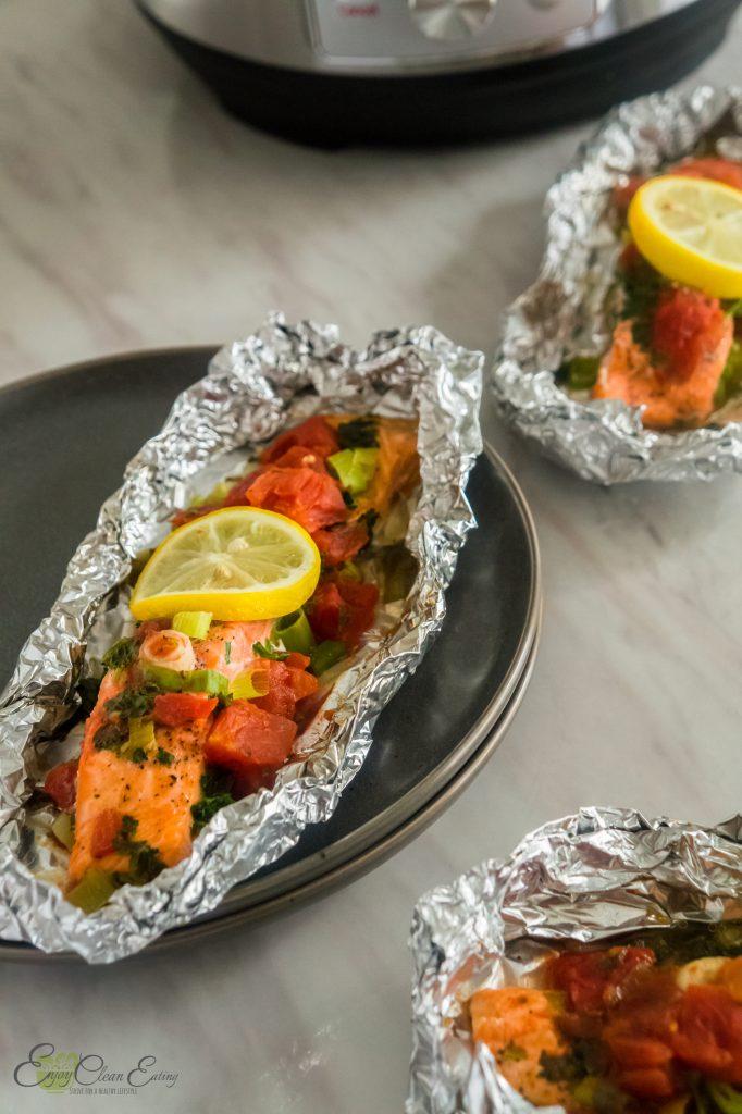 instant pot salmon foil packets