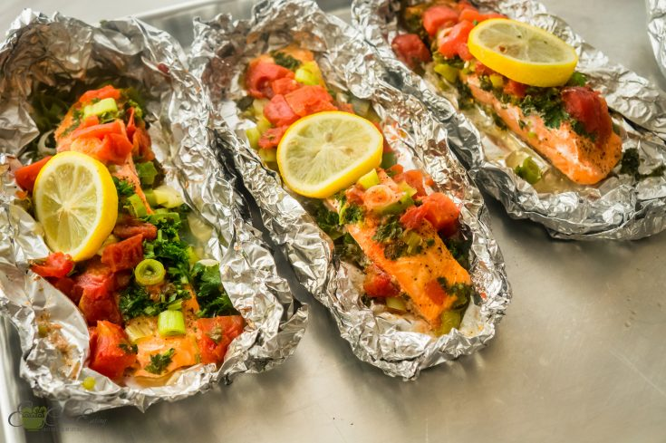 Instant pot salmon foil packets  (4 ingredients).