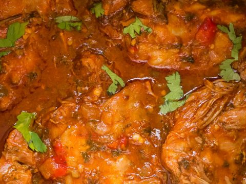 instant pot turkey thighs stew sprinkle with fresh cilantro