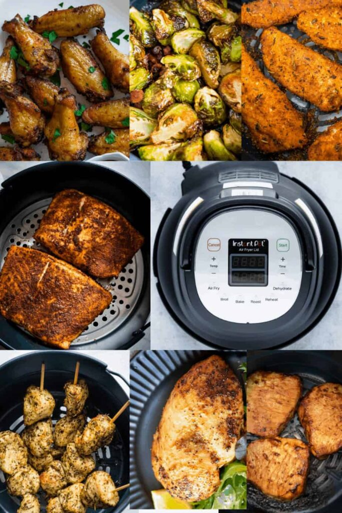 7 different dishes you can make using the instant pot air fryer lid