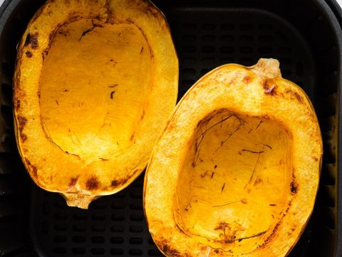 after the squashes are cooked in the air fryer basket