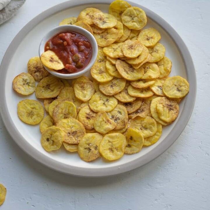Air Fryer Plantain Chips Recipe (Banana Chips)