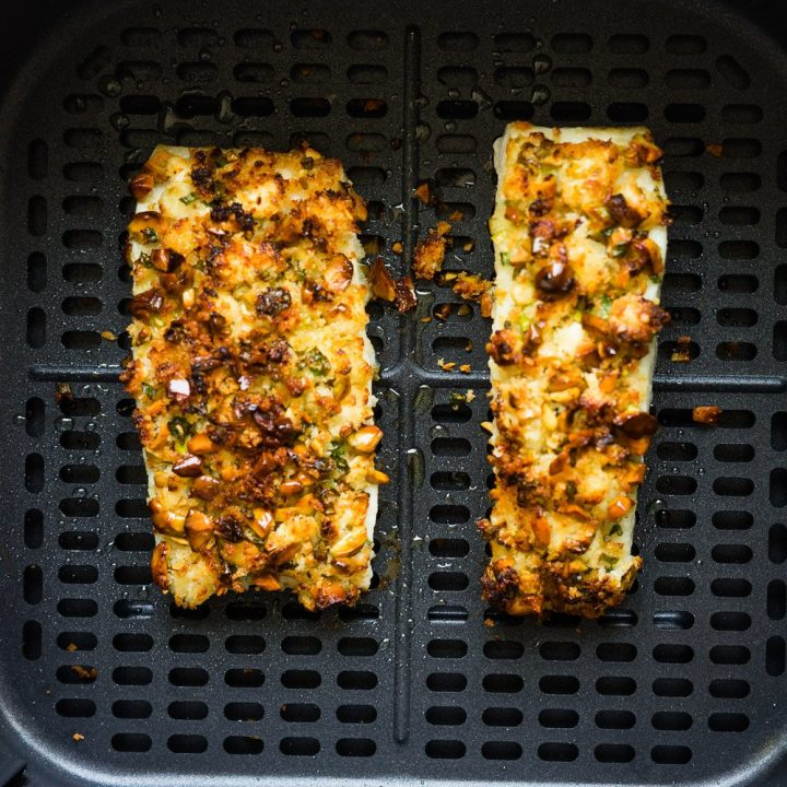 Air Fryer Halibut Recipe (Pistachios Crusted)