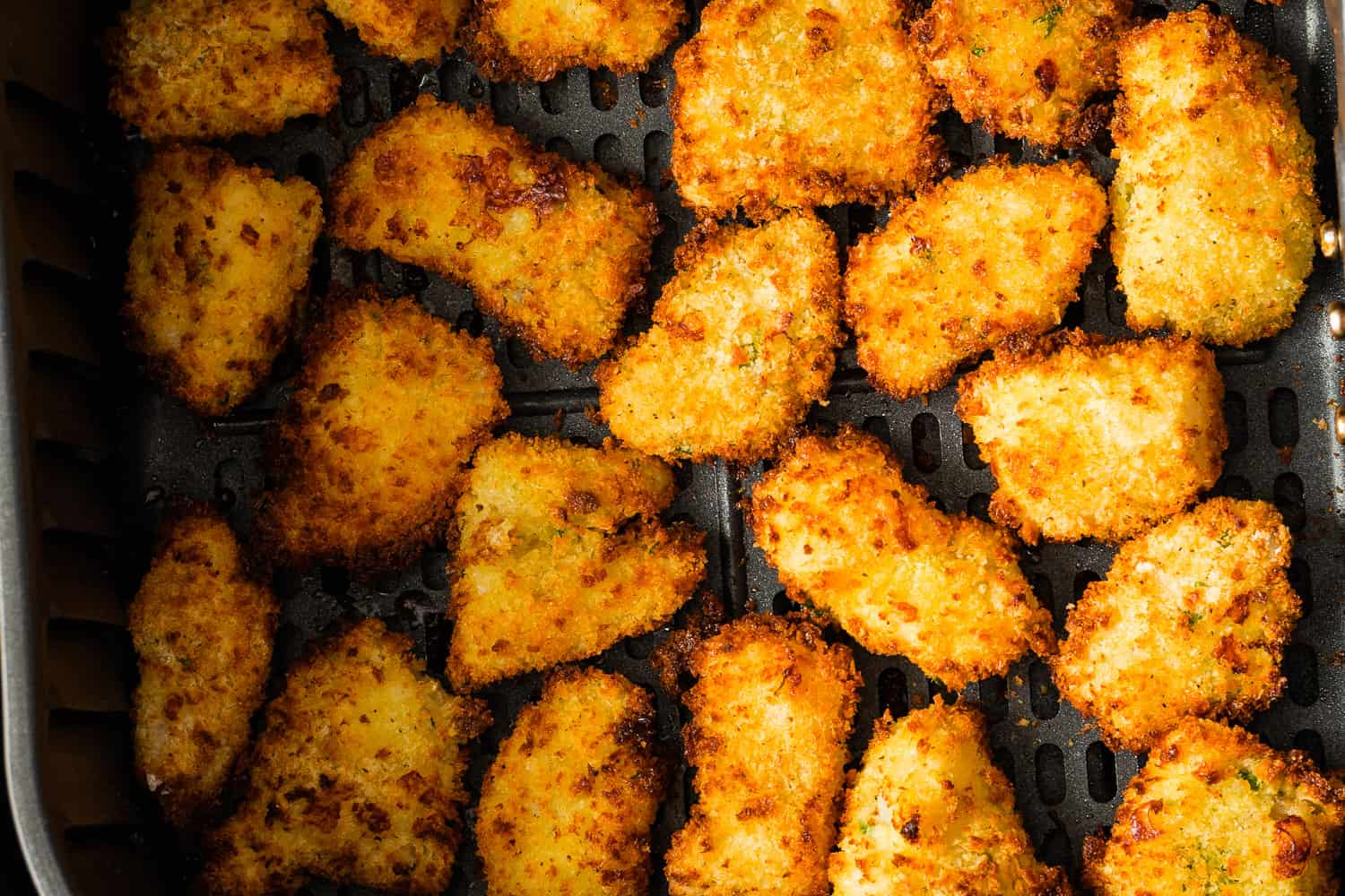 Crispy and delicious air fryer fish nuggets.