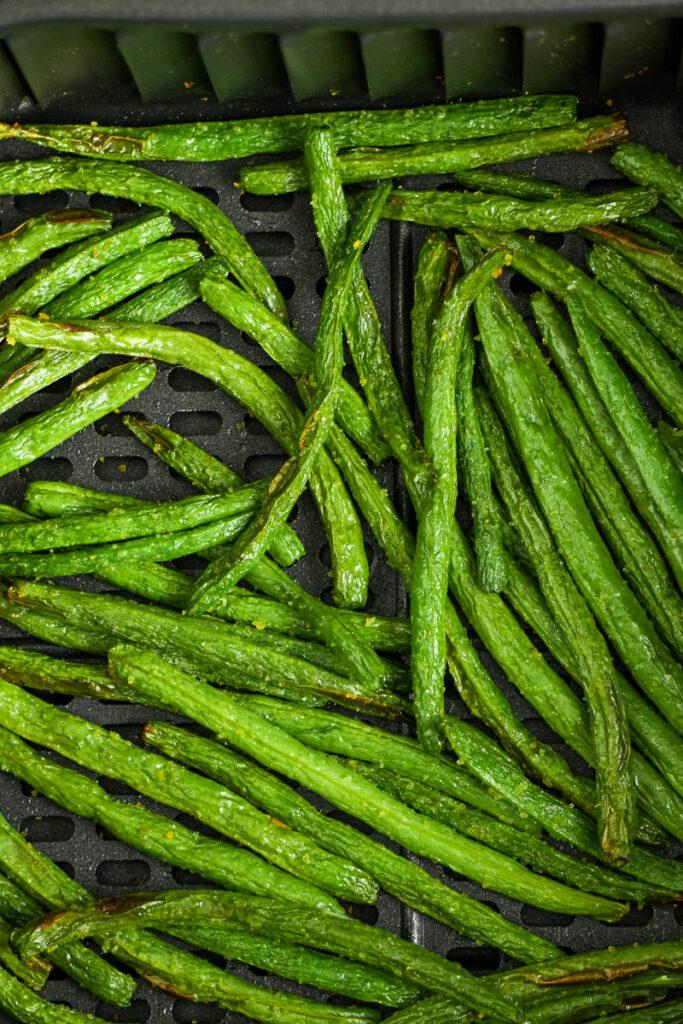 crunchy roasted green veggies.