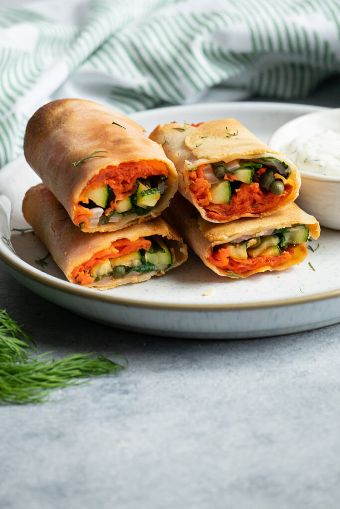 delicious smoked salmon taquitos in the air fryer.