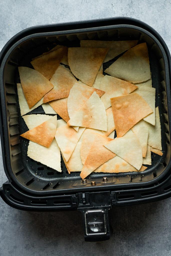 almond flour tortillas turn into air fryer chips.
